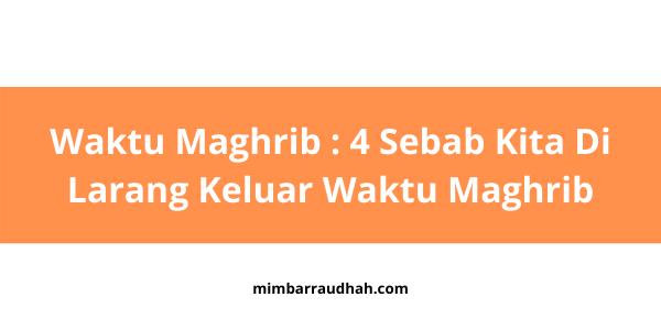 Waktu maghrib